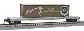 Micro-Trains 60 Steel Flatcar w/40 Container Load USAAC #667457 Z Scale Model Train Freight Car #52400107
