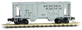 Micro-Trains PS-2 70-Ton 2-Bay Covered Hopper Western Pacific Z Scale Model Train Freight Car #53100251