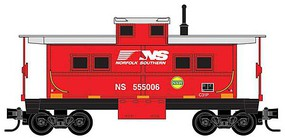 Micro-Trains Steel Center-Cupola Caboose Ready to Run Norfolk Southern 555006 (red, silver, N&W Hamburger Logo, Horse Head Logo) Z-Scale
