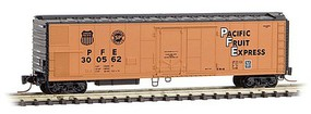 Micro-Trains 51 Riveted-Side Mechanical Reefer - Ready to Run Pacific Fruit Express 300535 (orange, black, black UP & SP Logos) - Z-Scale