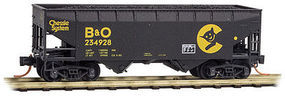 Micro-Trains 33 Hopper Cat Face Weathered N Scale Model Train Freight Car #5544510