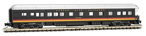 Micro-Trains Modernized Heavyweight Business Car Observation - Ready to Run Kansas City Southern Kay See (black, silver, yellow, red) - Z-Scale