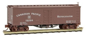 Micro-Trains 36 Wood-Sheathed Ice Reefer - Ready to Run Canadian Pacific #182914 (Boxcar Red) - N-Scale