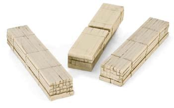 Micro Trains Line Timber Loads - Fits 40' Log Cars pkg(3) -- Z Scale Model Train Freight Car Load -- #79943923