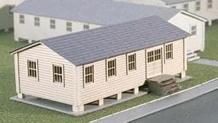 Micro Trains Line Mililtary Headquarters Kit -- Z Scale Model Railroad Building -- #79990915