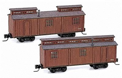 Micro Trains Line Office Car/Dining Car Set Kit - Undecorated -- Z Scale Model Train Passenger Car -- #79990917