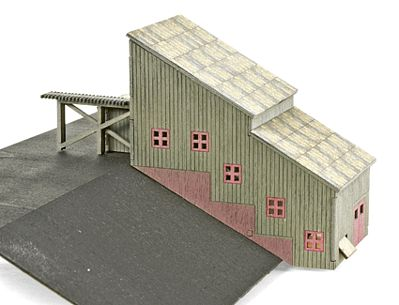 Micro Trains Line Ore Stamp Mill - Laser-Cut Wood Kit -- Z Scale Model Railroad Building -- #79990962