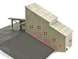 Micro-Trains Ore Stamp Mill - Laser-Cut Wood Kit Z Scale Model Railroad Building #79990962