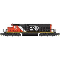 Micro-Trains Diesel EMD SD40-2 - Standard DC Canadian National #5379 (black, red, white, North America Logo) - Z-Scale