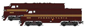Micro-Trains EMD F7A - Standard DC Pennsylvania Railroad 9835 (5-Stripe, Tuscan, gold) - Z-Scale