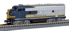Micro-Trains F7A Powered ATSF #329 Z Scale Model Train Diesel Locomotive #98001102