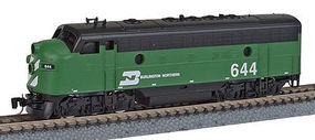 Micro-Trains F7A Powered Burlington Northern #644 Z Scale Model Train Diesel Locomotive #98001252