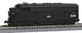Micro-Trains EMD F7A Conrail #1858 (black, white) Z Scale Model Train Diesel Locomotive #98001270