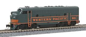 Micro-Trains EMD F7A Western Pacific #921 (green, orange) Z Scale Model Train Diesel Locomotive #98001292