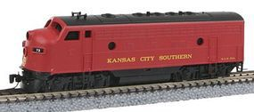 Micro-Trains EMD F7A Kansas City Southern #73 (red, black) Z Scale Model Train Diesel Locomotive #98001310