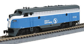 Micro-Trains EMD F7A Loco Powered Great Northern 314A Z Scale Model Train Diesel Locomotive #98001330