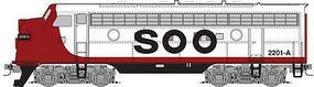 Micro-Trains F7A Powered SOO Line #2202B Z Scale Model Train Diesel Locomotive #98001362