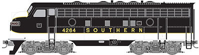 Micro Trains Line F7A Unit Powered Southern #4264 -- Z Scale Model Train Diesel Locomotive -- #98001372