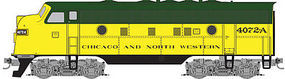 Micro-Trains F7A Powered Chicago & North Western #4072-A Z Scale Model Train Diesel Locomotive #98001382