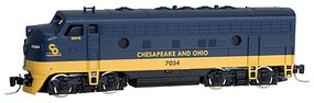 Micro-Trains EMD F7A - Standard DC Chesapeake & Ohio #7034 (blue, yellow) - Z-Scale