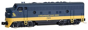 Micro-Trains EMD F7A - Standard DC Chesapeake & Ohio #7094 (blue, yellow) - Z-Scale