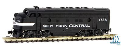 Micro Trains Line F7A Powered New York Central #1736 -- Z Scale Model Train Diesel Locomotive -- #98001431
