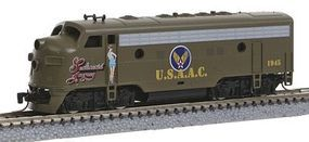 Micro-Trains EMD F7A USAAC #1945 Sentimental Journey Z Scale Model Train Diesel Locomotive #98001530