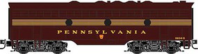 Micro-Trains EMD F7B - Standard DC Pennsylvania Railroad 9834B (5-Stripe, Tuscan, gold) - Z-Scale