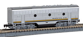 Micro-Trains F7B Powered ATSF Z Scale Model Train Diesel Locomotive #98002106