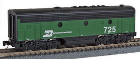 Micro-Trains F7B Powered Burlington Northern #725 Z Scale Model Train Diesel Locomotive #98002251