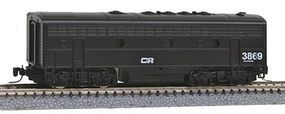 Micro-Trains EMD F7B Conrail #3869 (black, white) Z Scale Model Train Diesel Locomotive #98002270