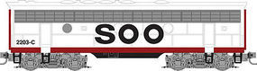 Micro-Trains F7B Powered SOO Line #2204C Z Scale Model Train Diesel Locomotive #98002362