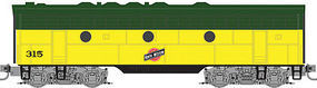 Micro-Trains F7B Powered Chicago & North Western #315 Z Scale Model Train Diesel Locomotive #98002382