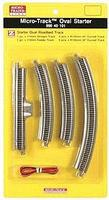 Micro-Trains 12-Piece Starter Oval Set - Micro-Track(TM) Z Scale Nickel Silver Model Train Track #99040101