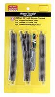 Micro-Trains 13-Degree Remote Turnout - Left Hand Z Scale Nickel Silver Model Train Track #99040914