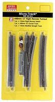 Micro-Trains 13-Degree Remote Turnout - Right Hand Z Scale Nickel Silver Model Train Track #99040915