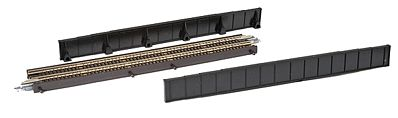 Micro Trains Line Single-Track Plate Girder Bridge Kit Black -- Z Scale Model Railroad Bridge -- #99040950