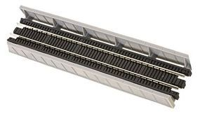 Micro-Trains Single-Track Plate Girder Bridge - Kit - Gray Z Scale Model Railroad Bridge #99040951