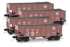 Micro-Trains 33 Hopper Runner Pack (4) N Scale Model Train Freight Car Set #99300099