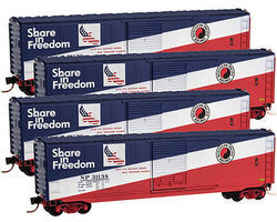 Micro-Trains 50 Std Box Runner Pack Northern Pacific N Scale Model Train Freight Car Set #99300106