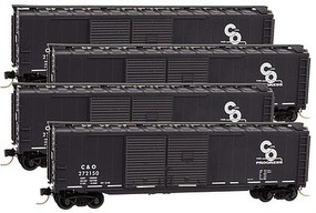 Micro-Trains 50' Box Rnnr Pk C&O 4/ N-Scale