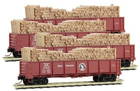 Micro-Trains 40 Gon Runner Pk GN 4/ - N-Scale