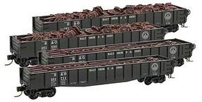 Micro-Trains 50 Gon Runner Pk B&O 4/ - N-Scale