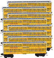 Micro-Trains 40' Stock Car Union Pacific (8) N Scale Model Train Freight Car Set #99300809
