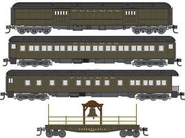 Micro-Trains Liberty Bell Set (4) N Scale Model Train Passenger Car Set #99301310