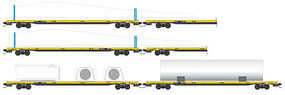 Micro-Trains TTX Wind Turbine Set N Scale Model Train Freight Car Set #99301330
