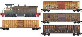 Micro-Trains Weathered Train Set Union Pacific/Southern Pacific N Scale Model Train Set #99301370