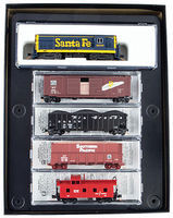 Micro-Trains Western Train-Only Set Santa Fe FM H16-44, 3 Cars, Caboose N Scale Model Railroad #99301440