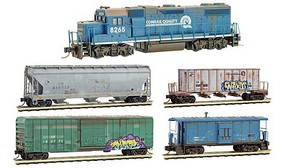 Micro-Trains GP38 Trainset Wthrd CR - N-Scale