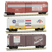 Micro-Trains Friendship Train 3-Pack 1 Each- NYC 40 Box, DL&W 40 Box, PRR 50 Box - N-Scale